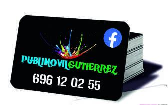 tarjetas de visitas en Huelva